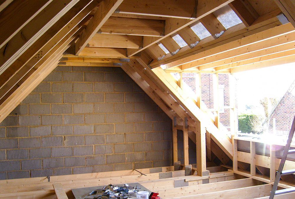 Amish Built Attic Car Garage With Loft Space: Garage Loft Conversion Project